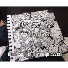 """Hotel Disturbia"" doodle art by Heidi Denney. Named for where it was created. Sharpie Bic zentangle zendoodle"
