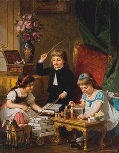 Anton Ebert «Spielende Kinder»