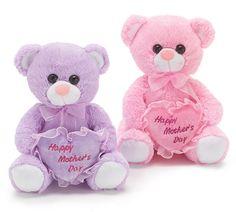 Our #burtonandburton Happy Mother's Day Pink + Lavender Plush Bears. #mom