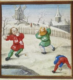 Snowball Fight, Flemish ca. 1510