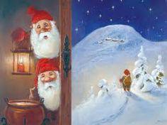 gamle julekort motiv
