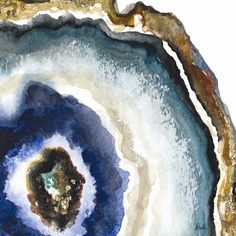 Up Close Agate Watercolor II