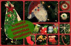 12 Simple Homemade Christmas Ornaments