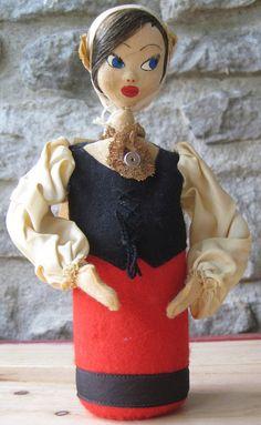 Unusual Perfume Atomizer Cloth Doll