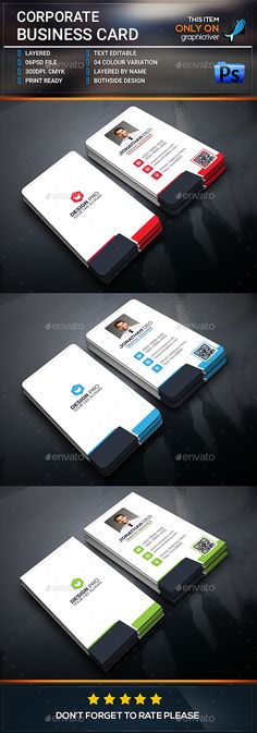 This is Corporate Business card . This Card download contains 300 dpi print-ready CMYK psd files. All main elements are editable a
