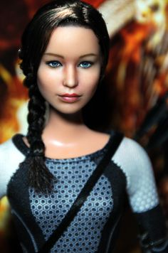 Repainted #Katniss #Barbie Sold for Almost 2k http://www.panempropaganda.com/movie-countdown/2014/2/10/repainted-katniss-barbie-sold-for-almost-2k.html/