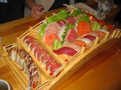 Sushi and Sashimi are perhaps the planet's most perfect and wholesome edibles . . . . right along side pure, raw honey!