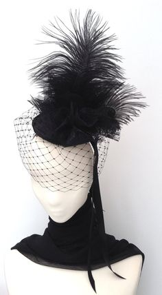 Gothic Neo Victorian Burlesque Fascinator Headpiece by Blackpin, £50.00