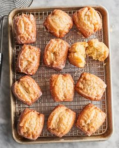 Old-Fashioned Buttermilk Bar Donuts Recipe   Kitchn Buttermilk Bar Donut Recipe, Crispy Donut Recipe, Old Fashioned Buttermilk Donut Recipe, Baked Buttermilk Donuts Recipe, Snickerdoodle Recipe, Donut Recipes, Brunch Recipes, Dessert Recipes, Vegan Desserts