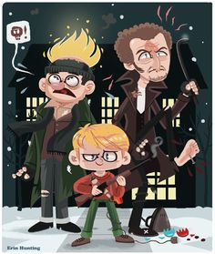 Home Alone // Illustration by Erin Hunting Home Alone Christmas, Christmas Movies, Merry Christmas, Christmas Ideas, Christmas Cards, Xmas, Book Illustration, Character Illustration, Home Alone Movie
