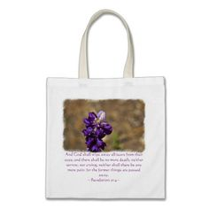 Revelation 21:4 bag by Scripture Classics #gift #zazzle #photogift #bible #Christian