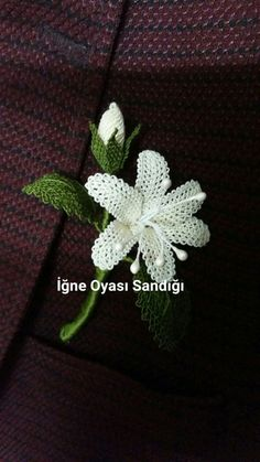 Irish lace Irish crochet flower motives, off white flower a Irish Crochet Patterns, Crochet Borders, Crochet Motif, Knitting Patterns, Crochet Leaves, Crochet Flowers, Beer Cap Crafts, Lace Art, Quick Knits