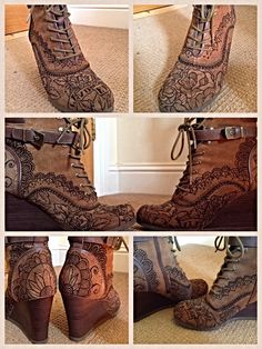 Hand painted shoes. By lauren jansons
