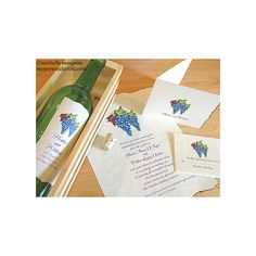 Vineyard wedding invitations - Perfect invites for vineyard or winery... ❤ liked on Polyvore