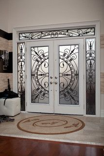 Clic Style Wrought Iron Door Inserts Front Doors Other Entry