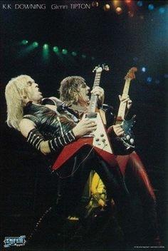 Judas Priest-Live op podium zeldzame Vintage door VintagePosterPlace