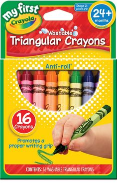 Crayola My First Triangular Crayons 16ct Toddler Activities Sensory Coupons