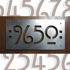 CUSTOM Mission Style House Numbers in Stainless Steel by studio724, $129.00