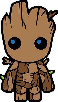 baby groot - Visit to grab an amazing super hero shirt now on sale! Kawaii Drawings, Disney Drawings, Cartoon Drawings, Cute Drawings, Chibi Marvel, Marvel Art, Marvel Cartoons, Dc Comics, I Am Groot