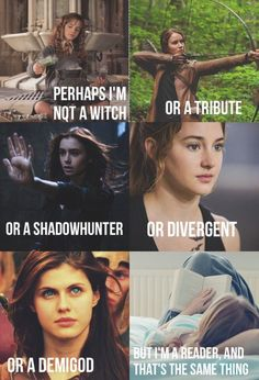 annabeth chase books divergent fandom harry potter hermione granger hunger games katniss everdeen multi percy jackson readers the mortal instruments tris shadow hunters (Geek Stuff Harry Potter) I Love Books, Good Books, Books To Read, Book Memes, Book Quotes, Fangirl, Citations Film, Percy Jackson Fandom, Percy Jackson First Book