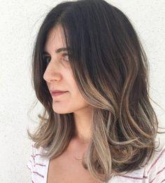 Hair Styles-shoulder length-dark hair- balayage-sombre