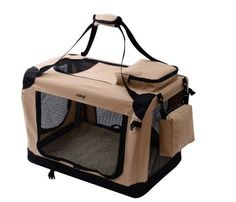 MDOG2 Portable Soft Crate, 32 by 23 by 23-Inch, Large, Sand >> Discover this special dog product, click the image : Crates, Houses and Pens for dogs