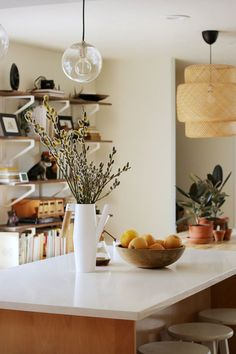 Shelving Behind The Dining Table Adds Extra Storage Tour On Design*Sponge