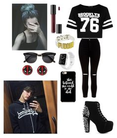 """Day with Colby Brock"" by joanaoliveira-ii ❤ liked on Polyvore featuring Boohoo, New Look, Jeffrey Campbell, Apple and Bare Escentuals"