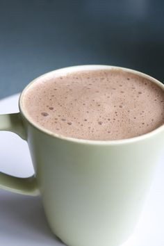 Hot Carob Drink for One (I feel like you should be able to call this a hot carob, like hot cocoa, but that just sounds strange….) -1 1/4 c. non-dairy milk -1/2 tsp. vanilla extract -1 1/2 – 2 tbsp. carob powder -1/2 – 1 tbsp. maple syrup -pinch/sprinkle of cinnamon Blend all ingredients in a blender (this gets all the lumps out, and makes it frothy!), and then heat and serve!
