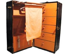 Louis Vuitton Katherine Cornell Wardrobe ca. 1913  | From a unique collection of antique and modern trunks and luggage at https://www.1stdibs.com/furniture/more-furniture-collectibles/trunks-luggage/
