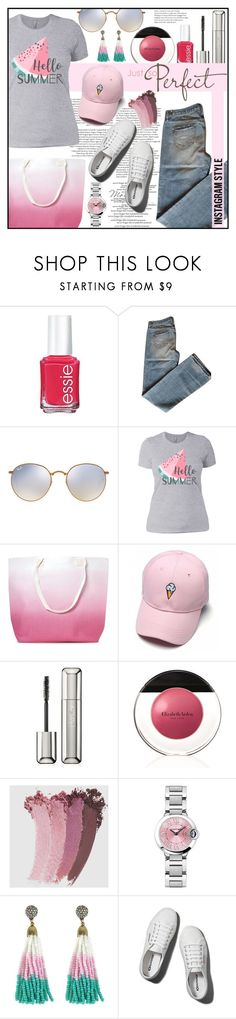 """Perfect Sunday🍦"" by ela79 ❤ liked on Polyvore featuring Essie, Abercrombie & Fitch, Ray-Ban, Nasty Gal, Guerlain, Elizabeth Arden and Gucci"