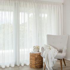 Calais Ivory - Readymade Sheer Pencil Pleat Curtain - Curtain Studio buy curtains online