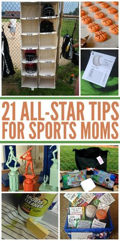21 All-Star Tips for Sports Moms - Sports gear, hacks, tips, and tricks for all sports players and they're moms. -One Crazy House - Basketball Mom, Softball Mom, Hockey Mom, Basketball Practice, Softball Crafts, Volleyball, Softball Cheers, Softball Shirts, Softball Bags