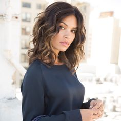 Haircuts For Wavy Hair, Haircut For Thick Hair, Curly Hair Cuts, Curly Hair Styles, Mid Length Hairstyles, Medium Length Haircuts, Medium Hair Cuts Wavy, Natural Wavy Hair Cuts, Shoulder Length Curly Hairstyles