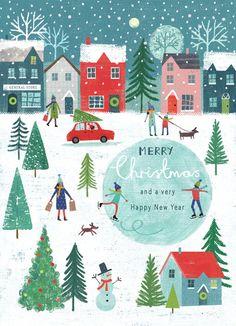 Joanne Cave   Advocate Art Noel Christmas, Christmas Design, Winter Christmas, Vintage Christmas, Christmas Crafts, Winter Illustration, Christmas Illustration, Illustration Art, Winter Art