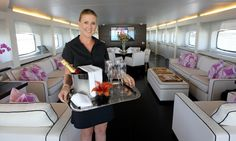 Crown Perth's luxury yacht Infinity six-star food and beverage service delivered by crews of up to 25, who staff the 40m vessel
