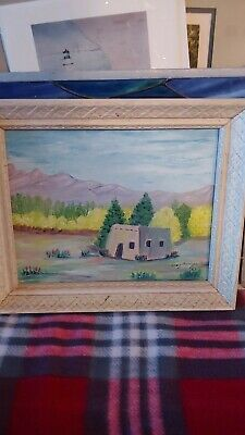 Inez Morrison Miniature Adobe Landscape Oil Painting 1967 8x10   eBay Ebay Paintings, Adobe, Miniatures, Oil, Landscape, Scenery, Cob Loaf, Minis, Corner Landscaping