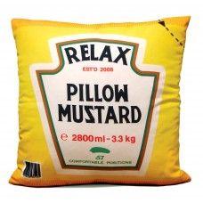 Almofada Mustard for R$63,00 - Trekos & Cacarekos - Presentes Criativos e Decoração Criativa