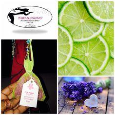 'Car Poppy' Lavender Lime Essential Oil Aroma Beads