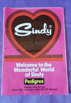 Pedigree Sindy Booklet / Leaflet 1970's | eBay