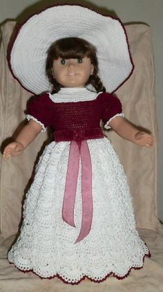 130 Southern Bell Outfit Crochet Pattern for von barbsdolls