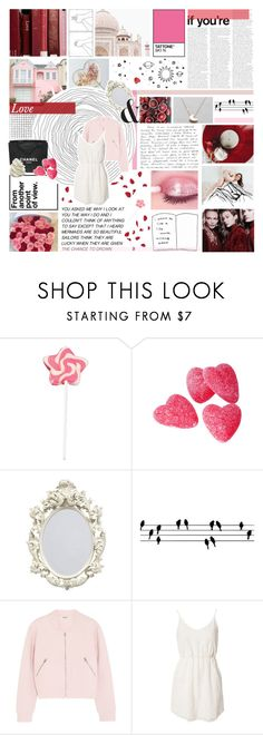 """""""i see my future in your eyes"""" by enchantedmist ❤ liked on Polyvore featuring Chanel, ferm LIVING, Acne Studios, Jeane Blush, contestentry, NYFWHotPink, Pink, red, polyvorecommunity and polyvoreeditorial"""