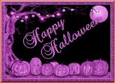 Purple Happy Halloween Gif happy animated purple gif pumpkin halloween greeting