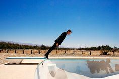 TylerShields.com Empty Pool, Tyler Shields, Floating In Space, Lady And Gentlemen, Surrealism, Photo Art, Gentleman, Celebs, Actors