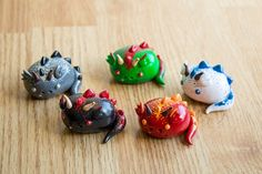 Kawaii Chibi Dragon  Polymer Clay Figurine Made to by HappyHuskyy, $18.00