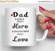 On Sale 20% Fathers Day Mug Dad Birthday Gift Dad Mug Gift
