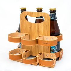 The Spartan Carton Leather 6-Pack Beer Carrier от WalnutStudiolo