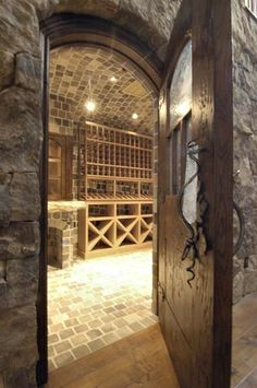 Wine room shelving