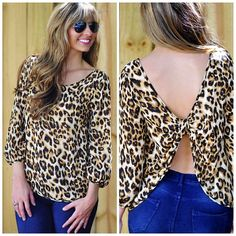 Bow To The Leopard Top