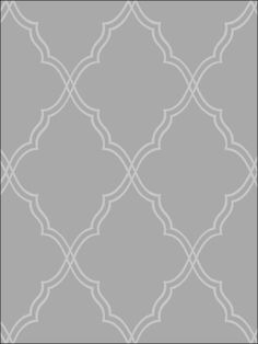 Wallpaper...would love to do a stencil in this pattern, too.